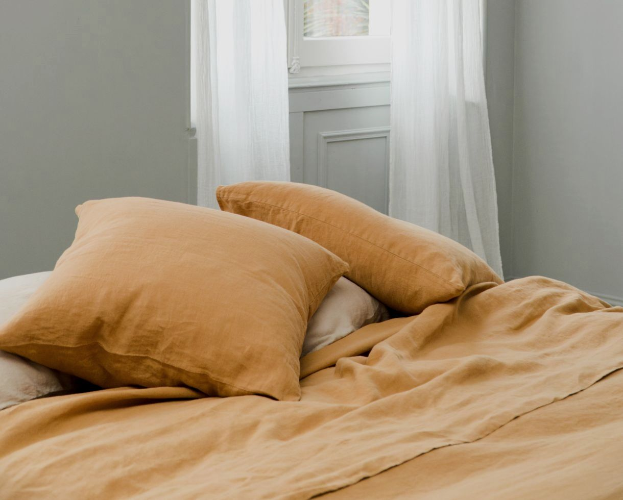Pure hemp flat sheet - Couleur Chanvre