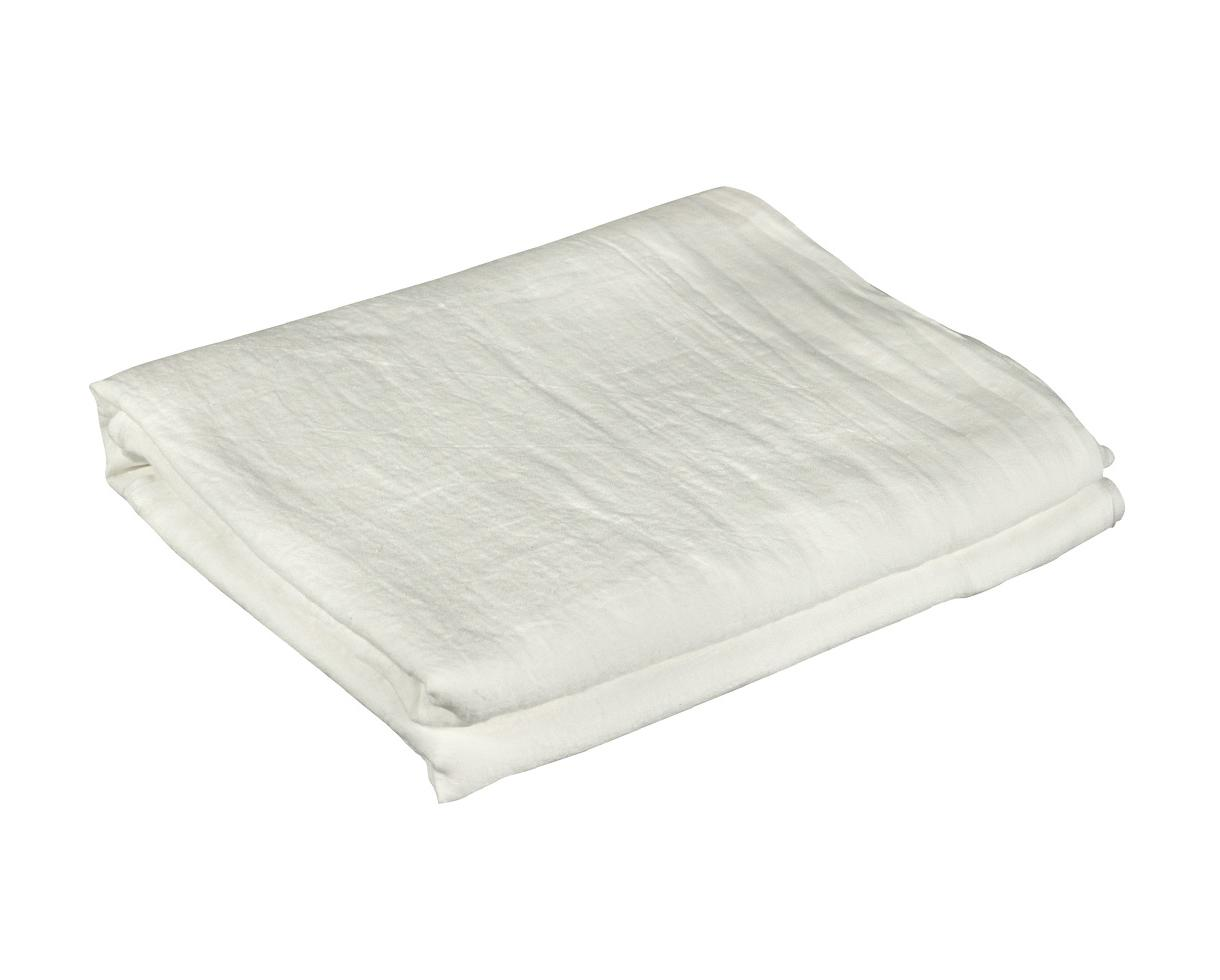 Pure hemp flat sheet White Limestone - Couleur Chanvre
