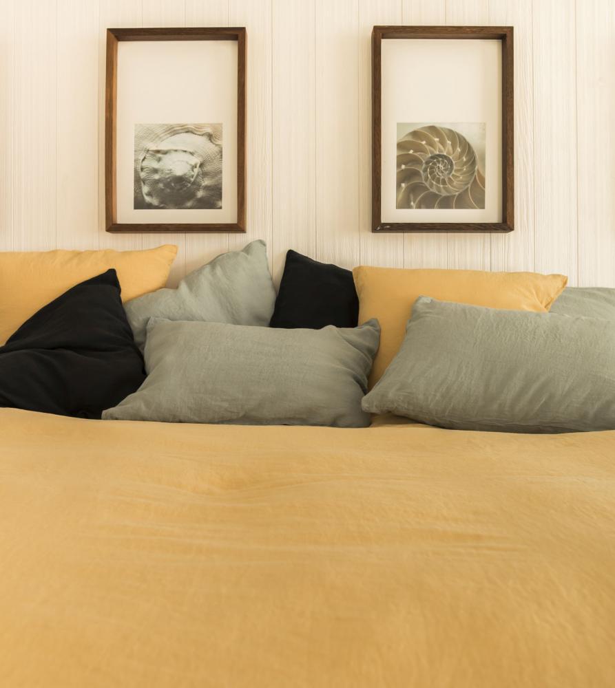housse de couette unie en chanvre couleur chanvre. Black Bedroom Furniture Sets. Home Design Ideas
