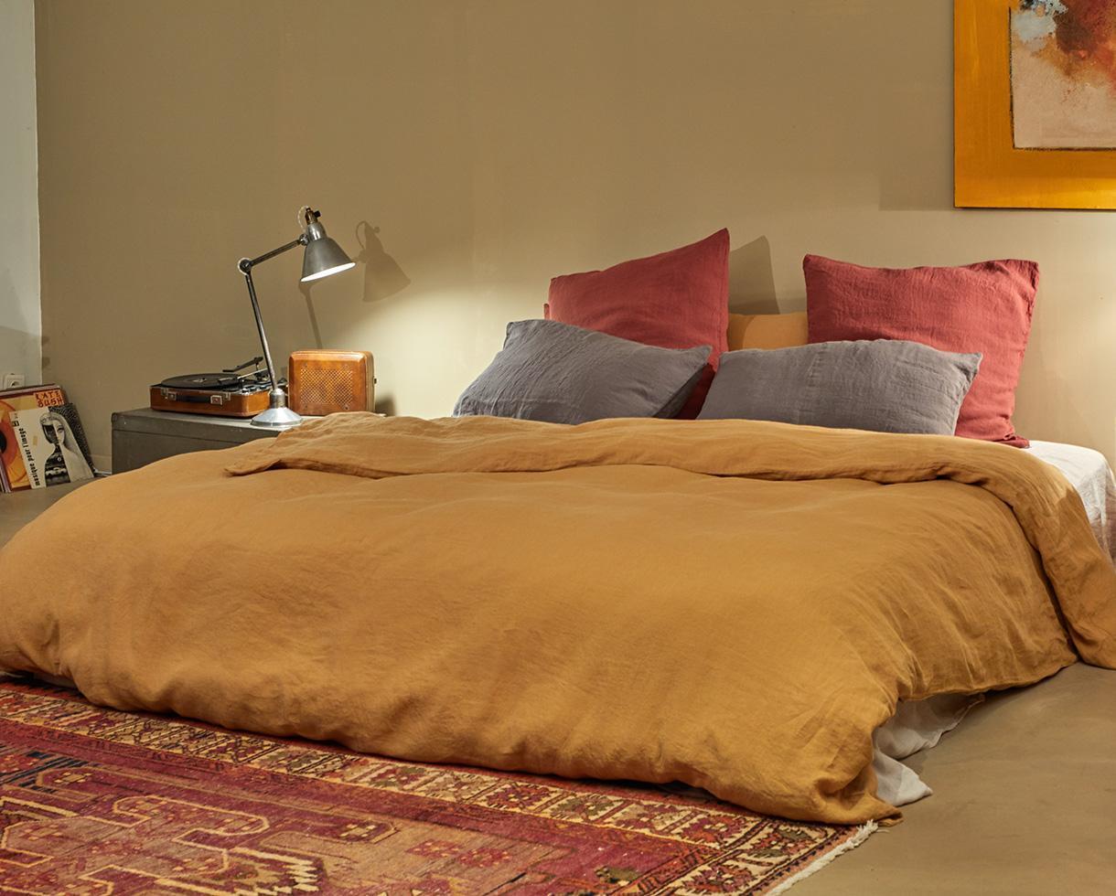 Bettbezug aus reinem Hanf Kümmel - Couleur Chanvre