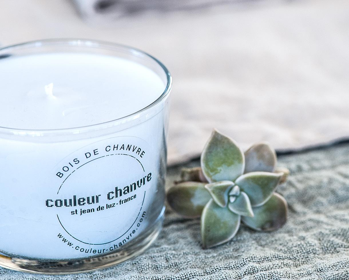 Candle dressed by CC White Limestone - Couleur Chanvre