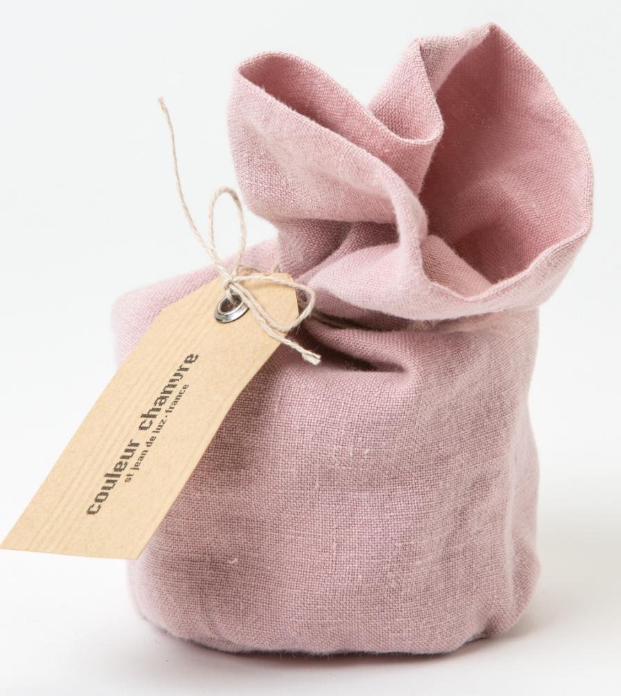 Bougie Habillée par CC Bois de Rose - Couleur Chanvre