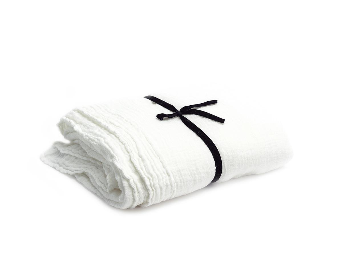 Rideau en gauze de chanvre Blanc de chaux - Couleur Chanvre