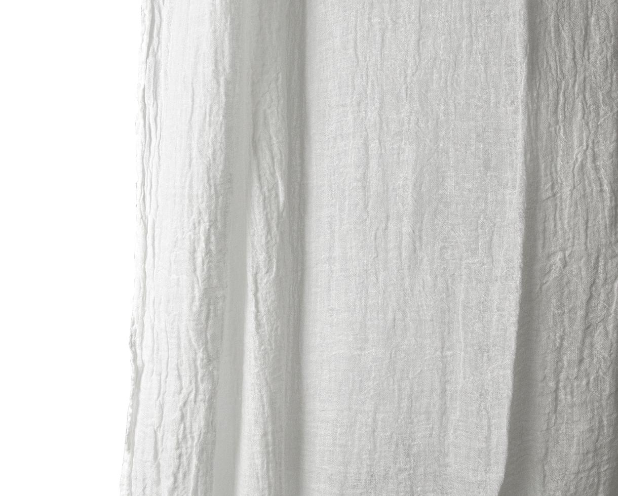Cortina/colcha de gasa Blanco de cal - Couleur Chanvre