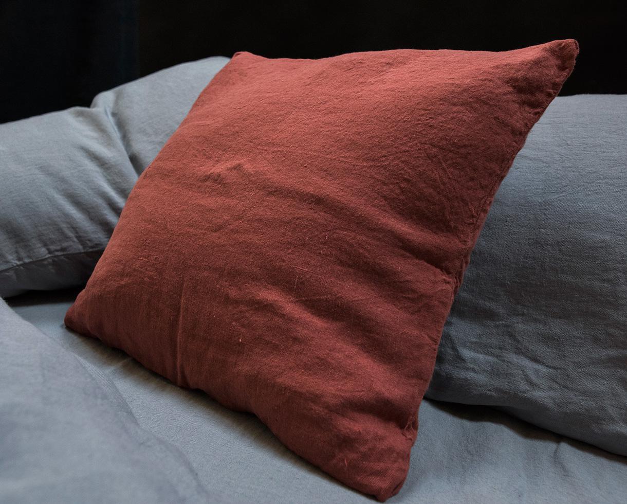 Taie d'oreiller en chanvre Sienne - Couleur Chanvre