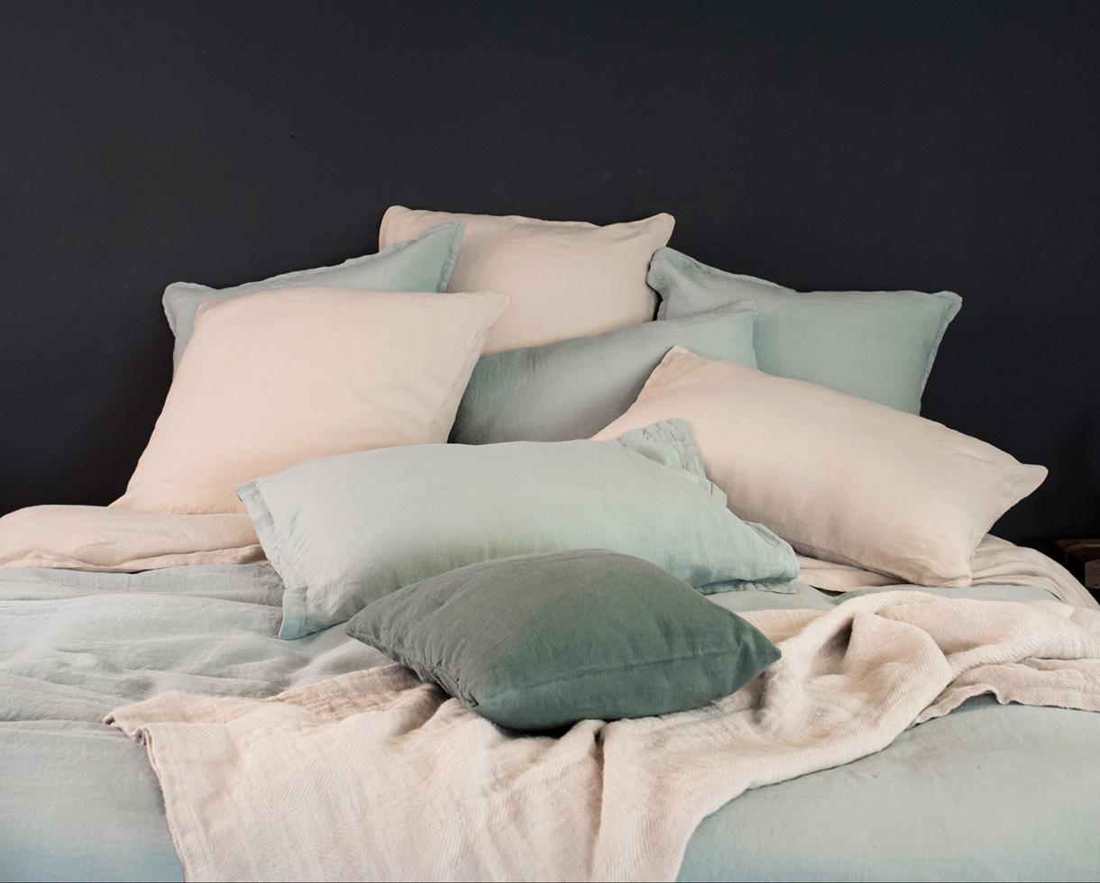 Pure hemp pillowcase Clay - Couleur Chanvre