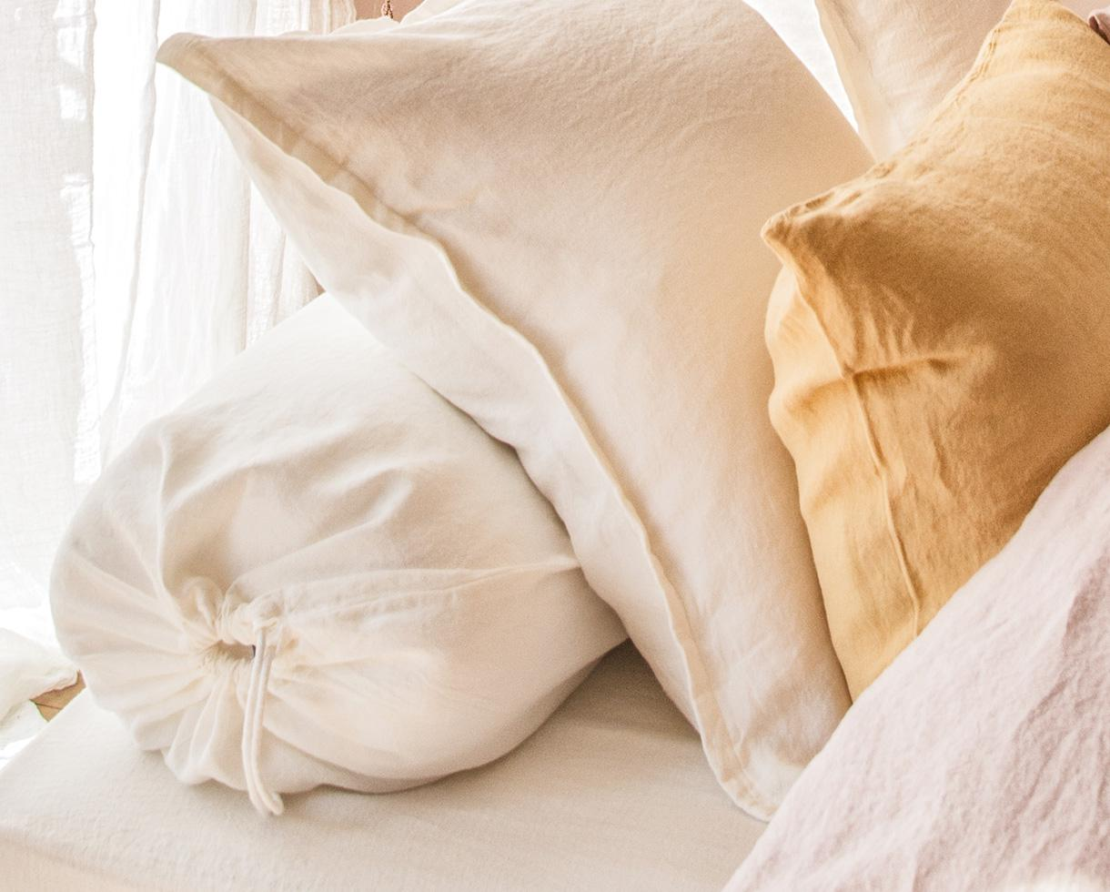 Bolster cover White Limestone - Couleur Chanvre