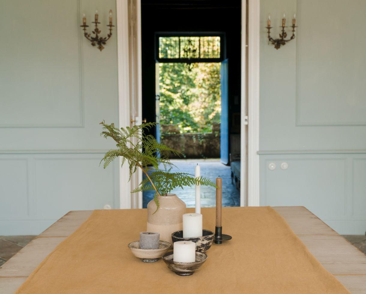 Mantel de lino Comino - Couleur Chanvre