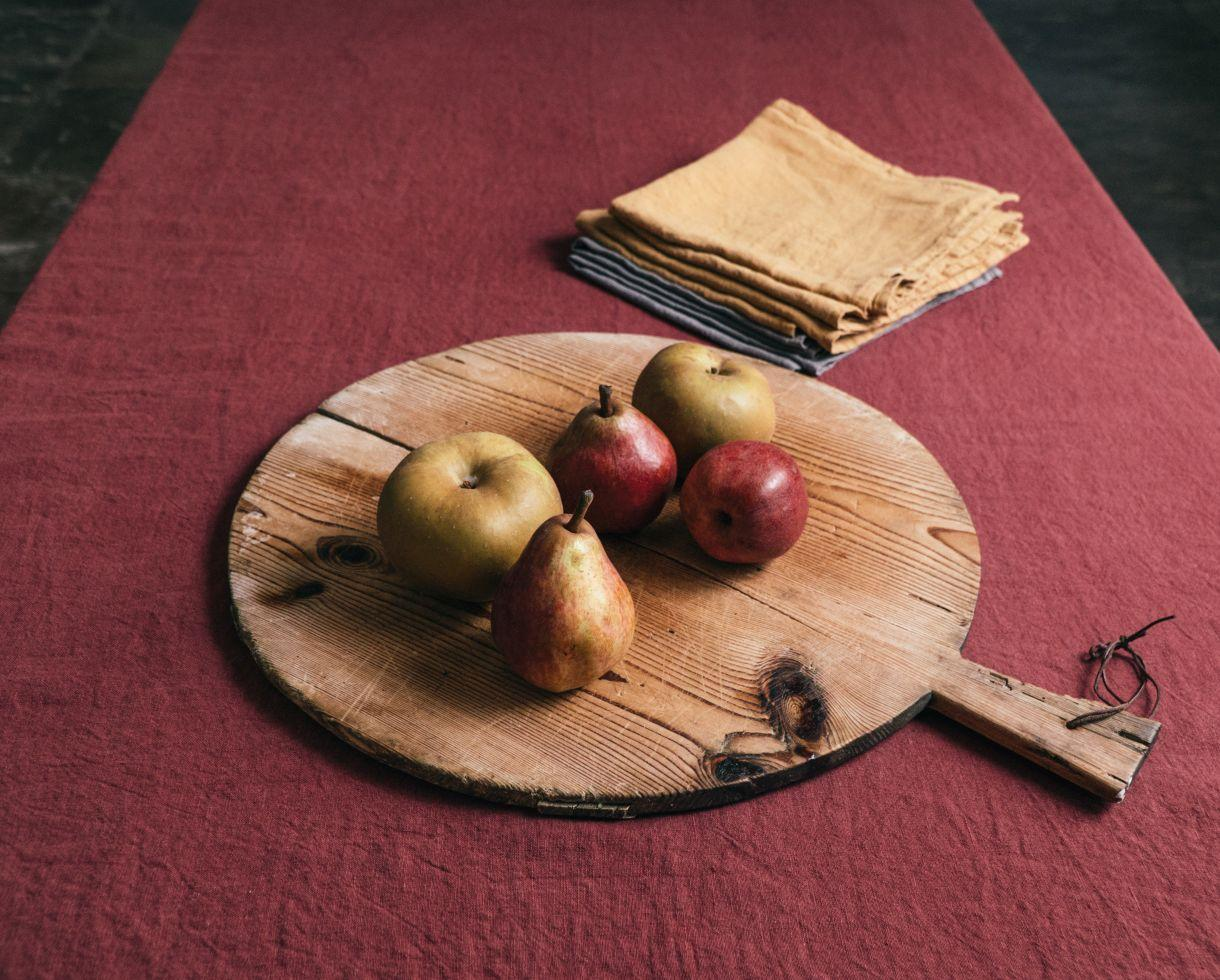 Linen tablecloth Red Ocher - Couleur Chanvre