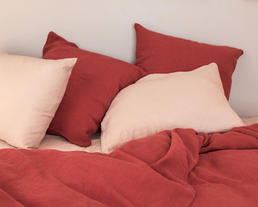 Linen pillowcase - Couleur Chanvre
