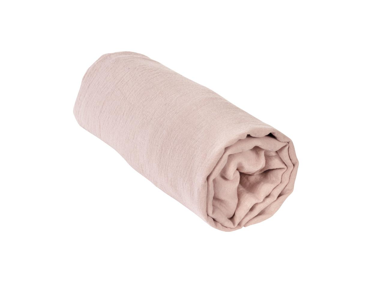 Linen fitted sheet 1900 Pink - Couleur Chanvre
