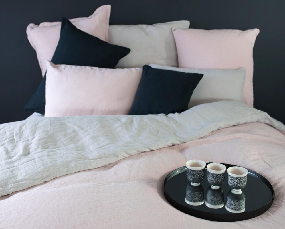 Two-tone hemp duvet cover - Couleur Chanvre