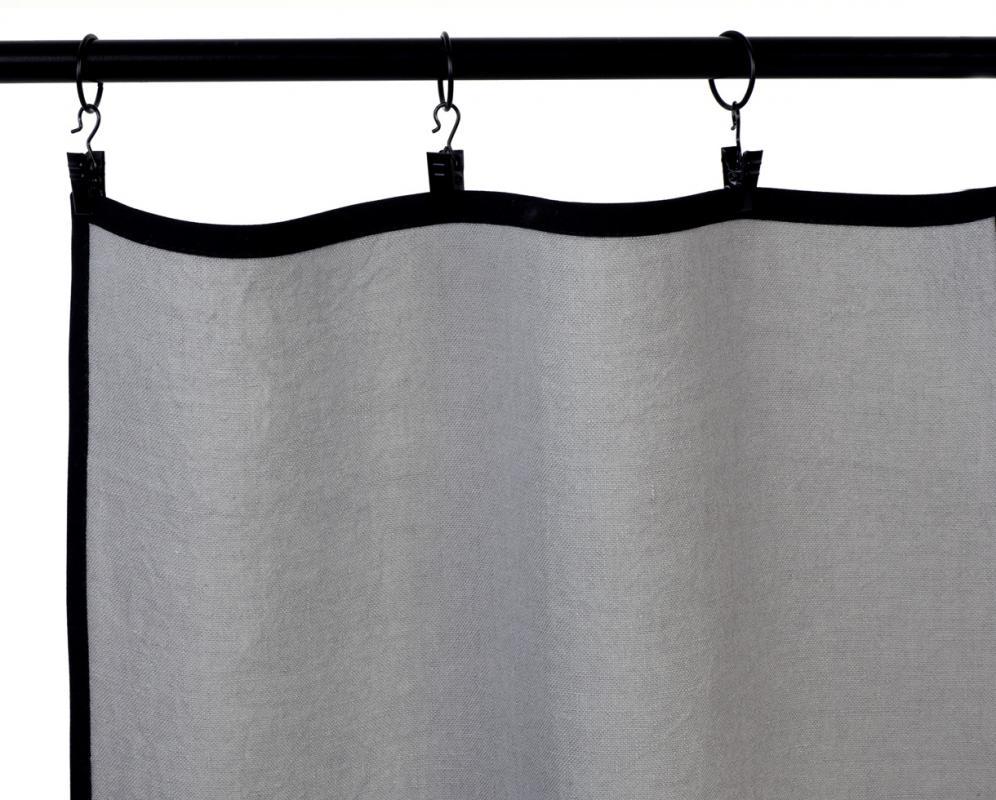 Vorhang mit schwarzer Vorspannung - Couleur Chanvre