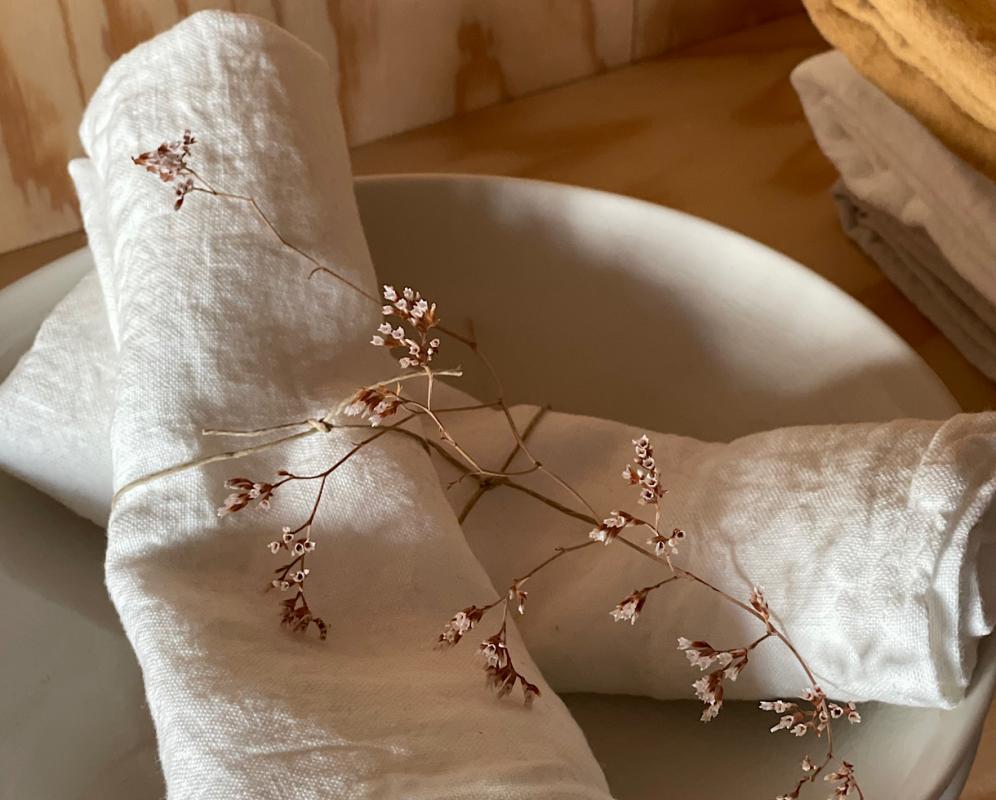 Serviette de table en lin - Couleur Chanvre