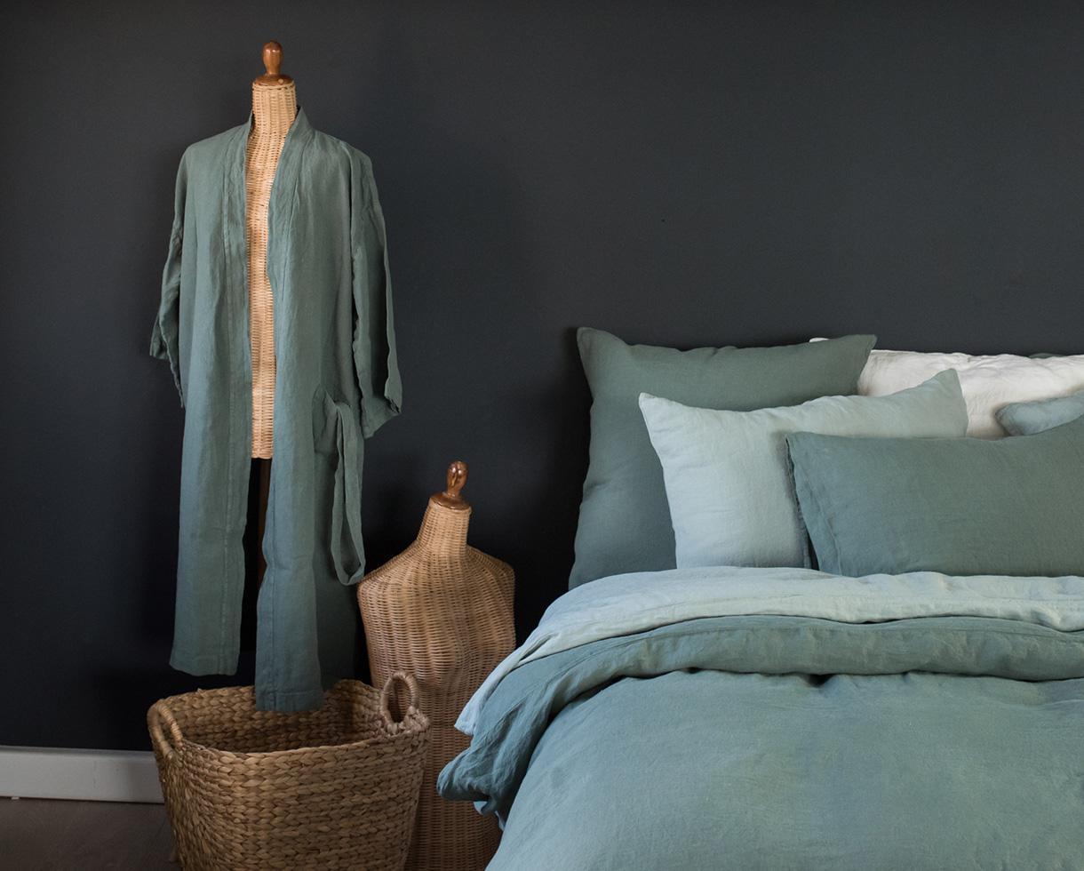 Kimono en lino Jade - Couleur Chanvre