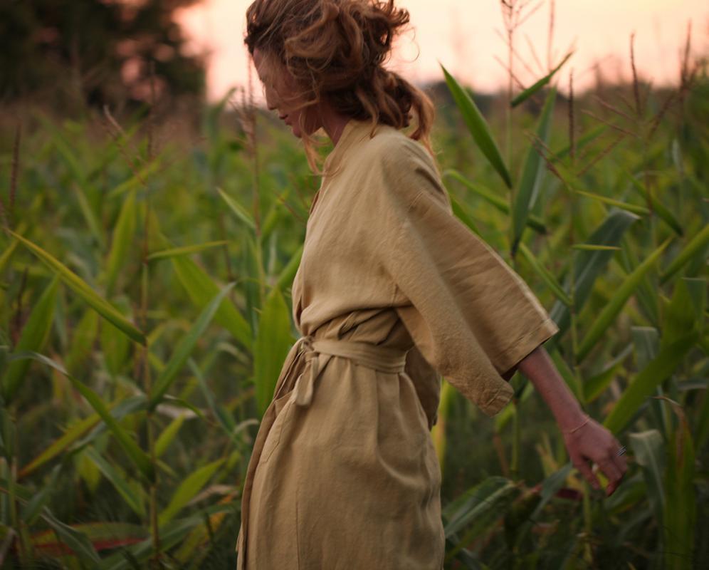 Linen Kimono - Couleur Chanvre
