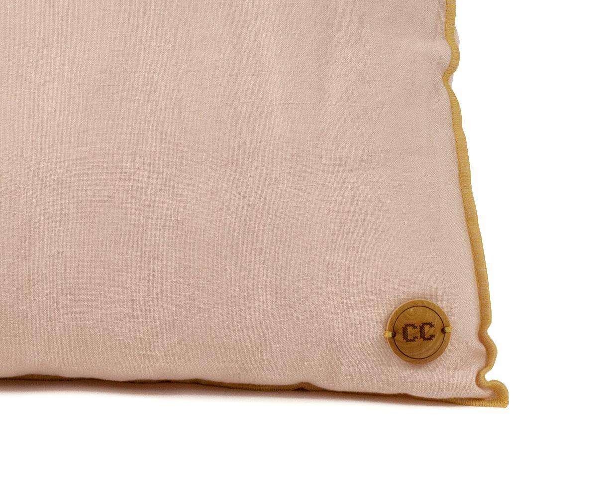 linen cushion Epure 1900 Pink - Couleur Chanvre