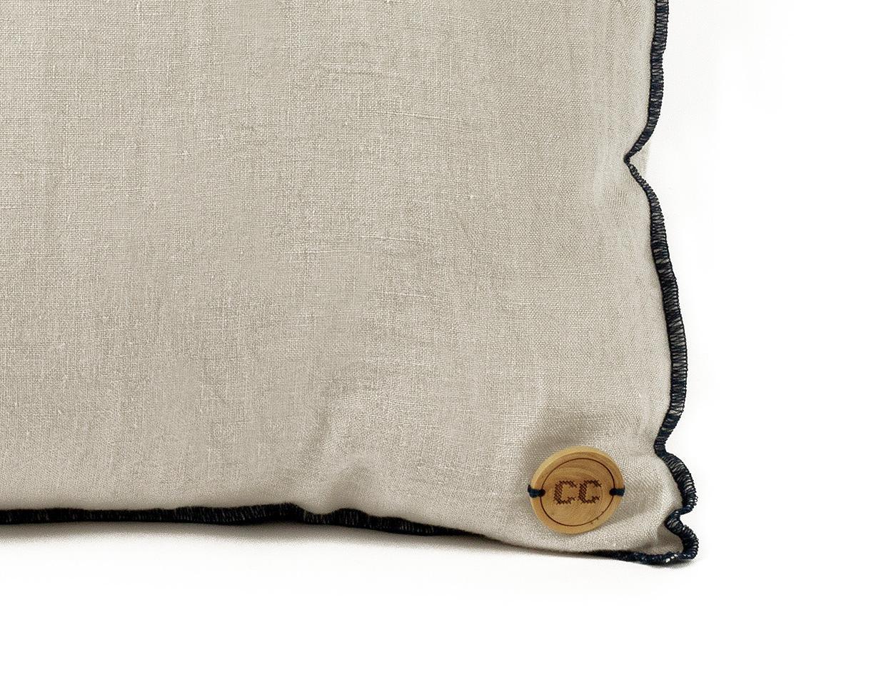 cojín de lino Epure Gris perla - Couleur Chanvre