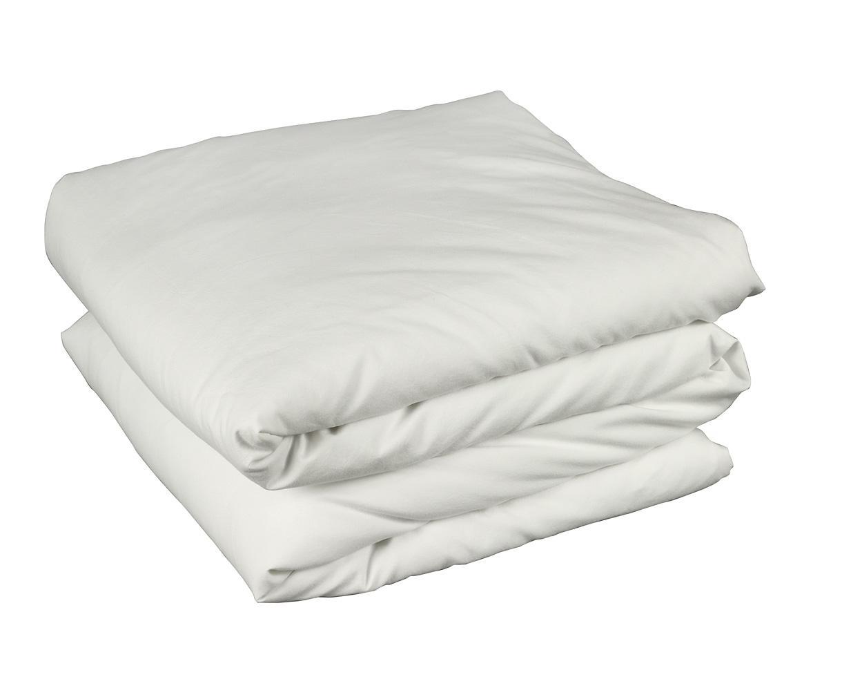 Organic cotton duvet cover Chalk - Couleur Chanvre