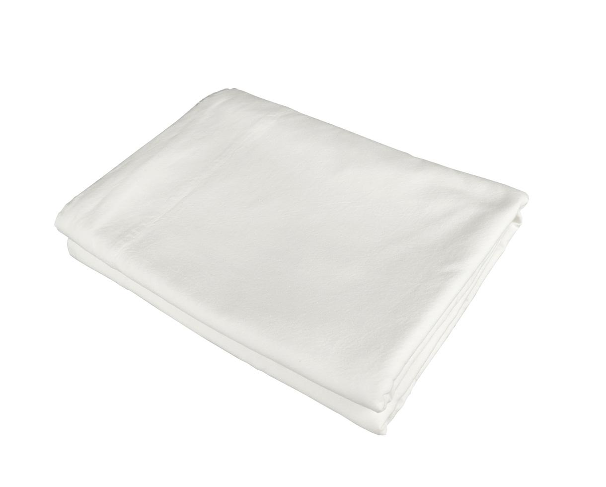 Organic cotton flat sheet Chalk - Couleur Chanvre