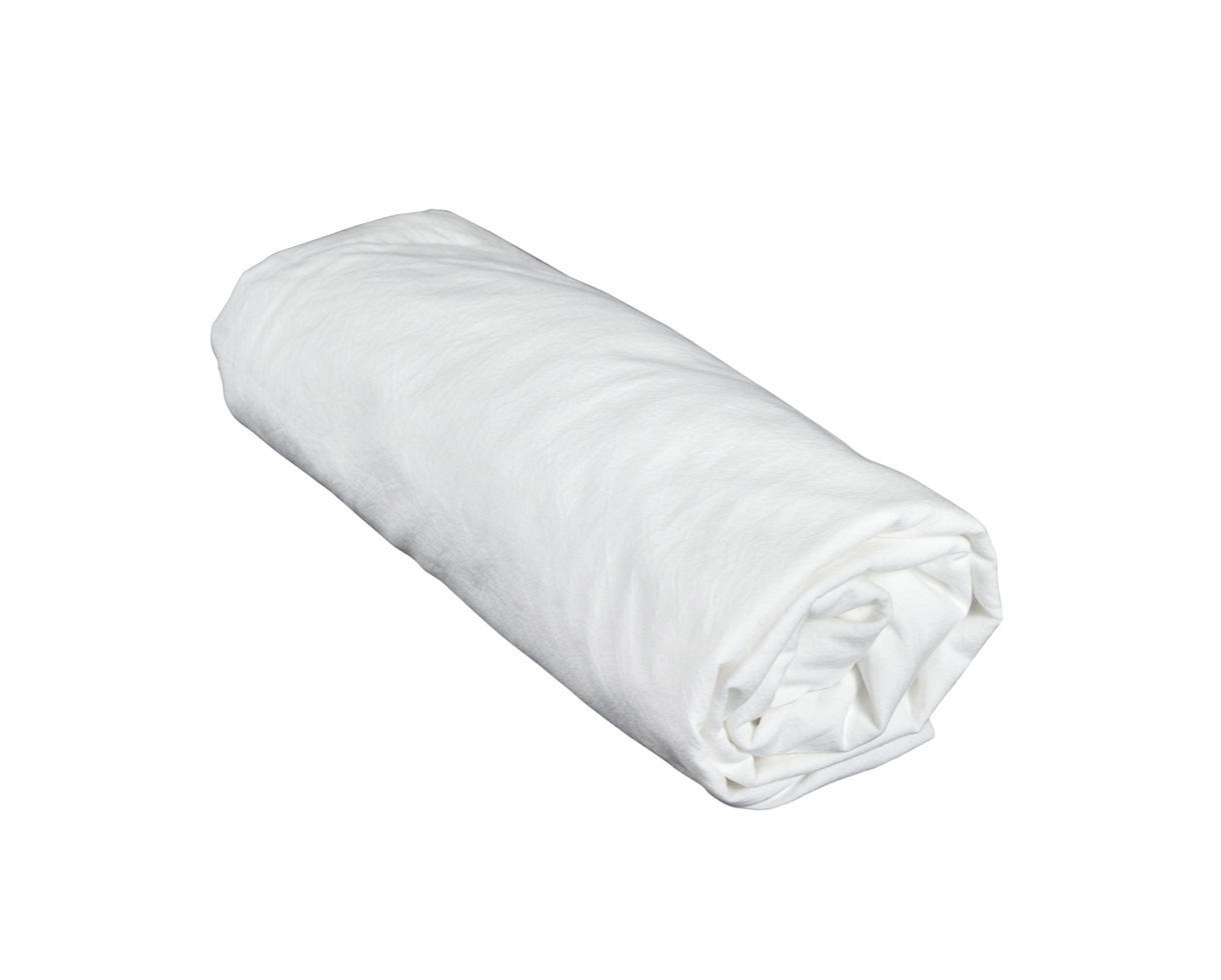 Sábana bajera en algodón orgánico Tiza - Couleur Chanvre