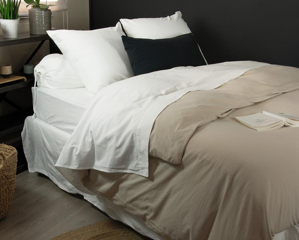 Organic cotton fitted sheet - Couleur Chanvre