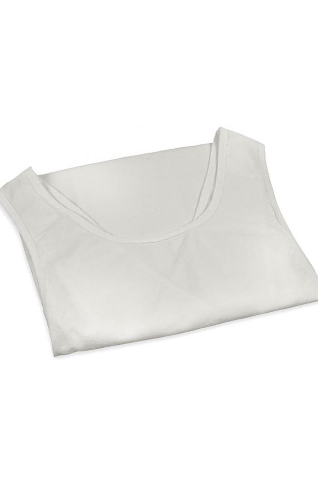 Delantal de Li en algodón orgánico Tiza - Couleur Chanvre