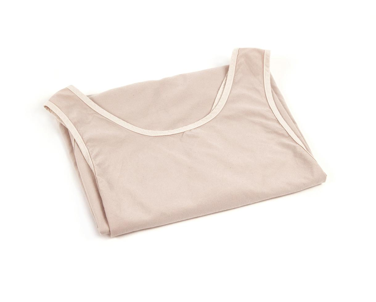 Li apron in organic cotton Powdery Pink - Couleur Chanvre