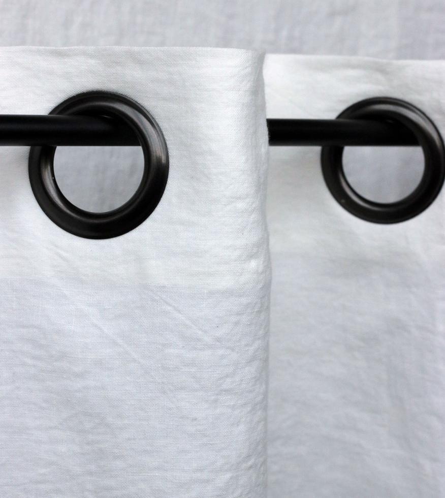 Cortina de ojal en lino 270g/m² Blanco de cal - Couleur Chanvre