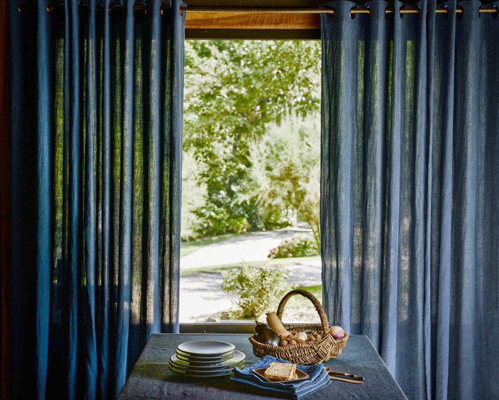 270g/m² linen eyelet curtain - Couleur Chanvre