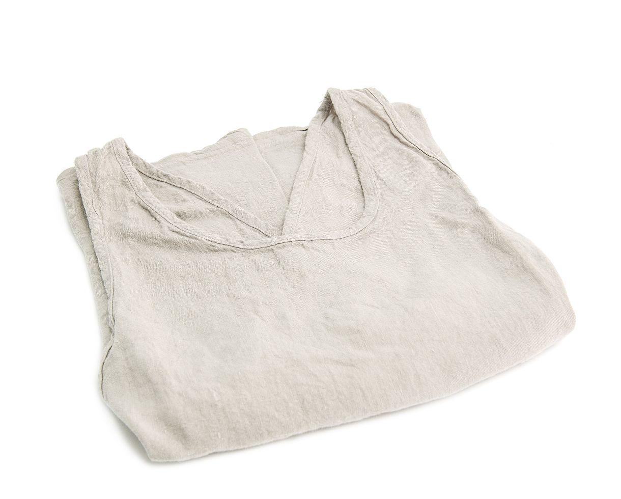 Linen Li apron Pearl Grey - Couleur Chanvre