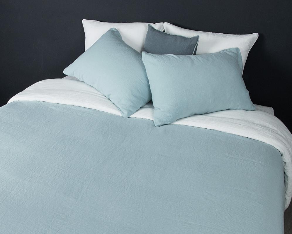 Zweifarbiger Bettbezug aus Lein - Couleur Chanvre