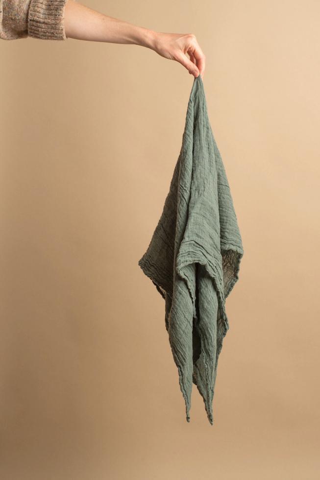 Hemp square Jade - Couleur Chanvre