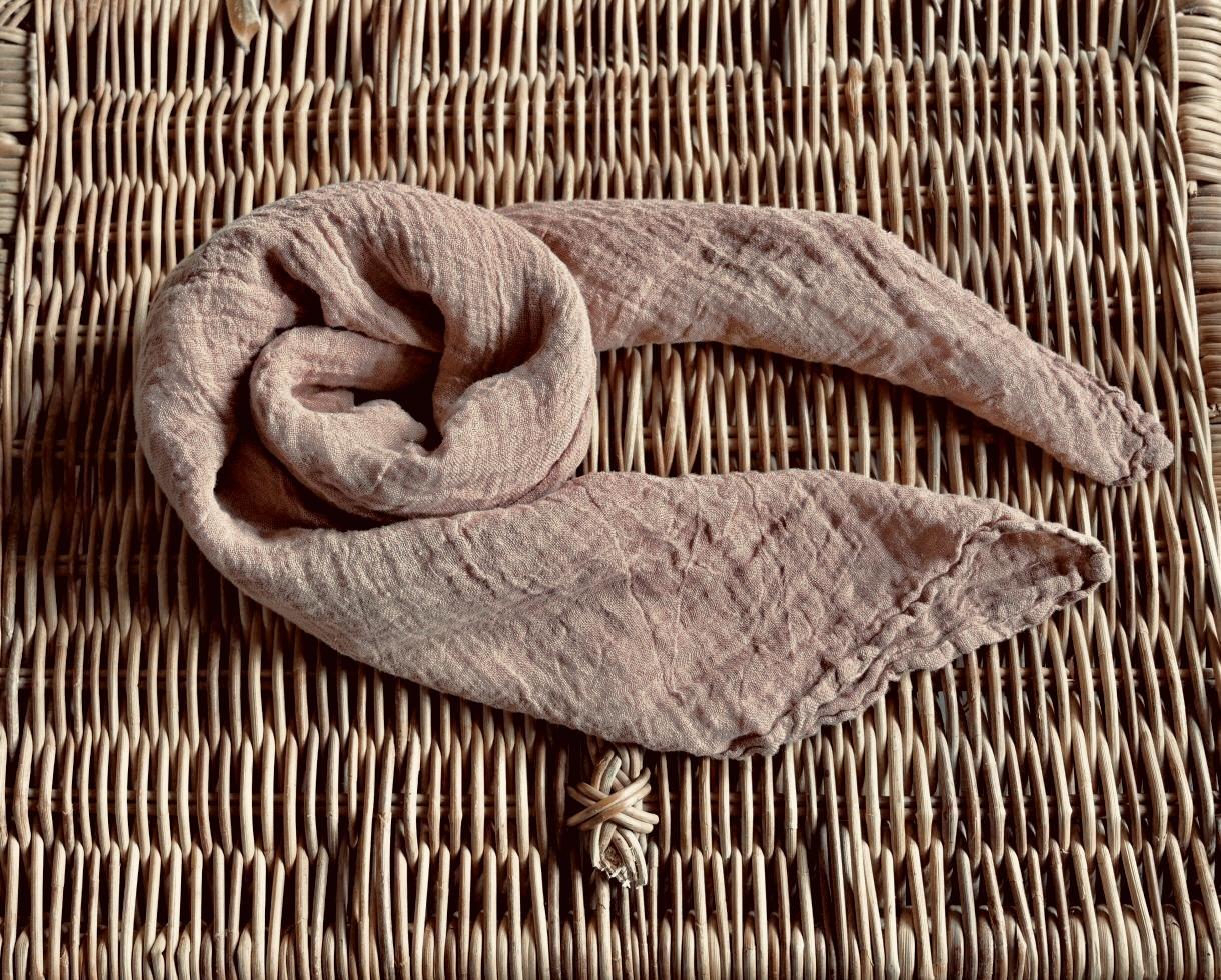 Cuadrado de cáñamo Rosa del desierto - Couleur Chanvre