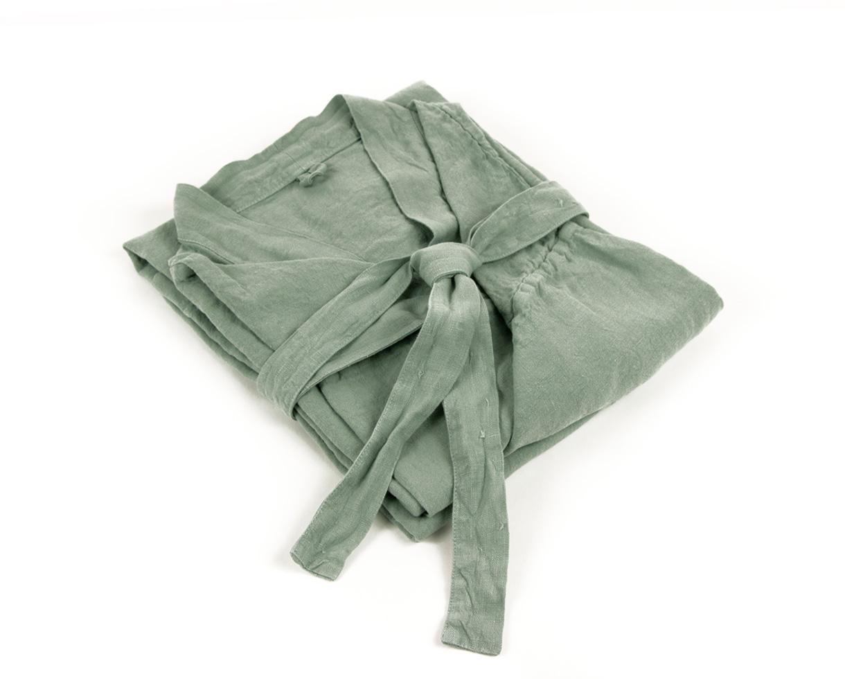 Hanfkimono Wassergrün - Couleur Chanvre