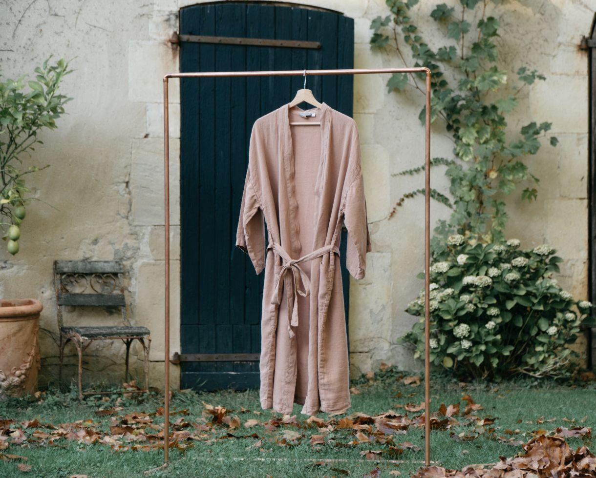Kimono en chanvre Rose des sables - Couleur Chanvre