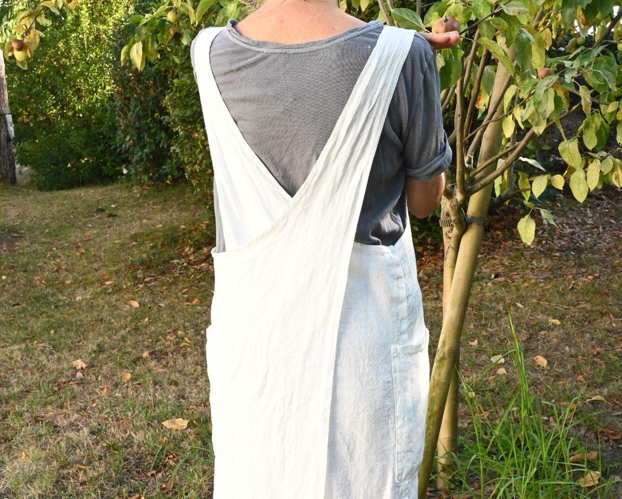Hemp Li Apron White Limestone - Couleur Chanvre