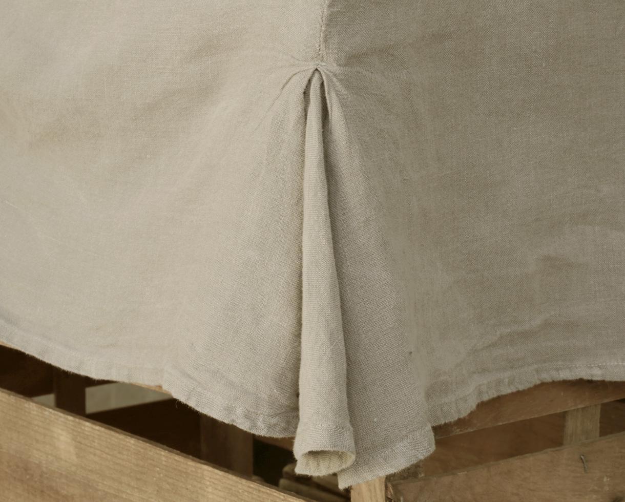 Simple hemp valance Clay - Couleur Chanvre