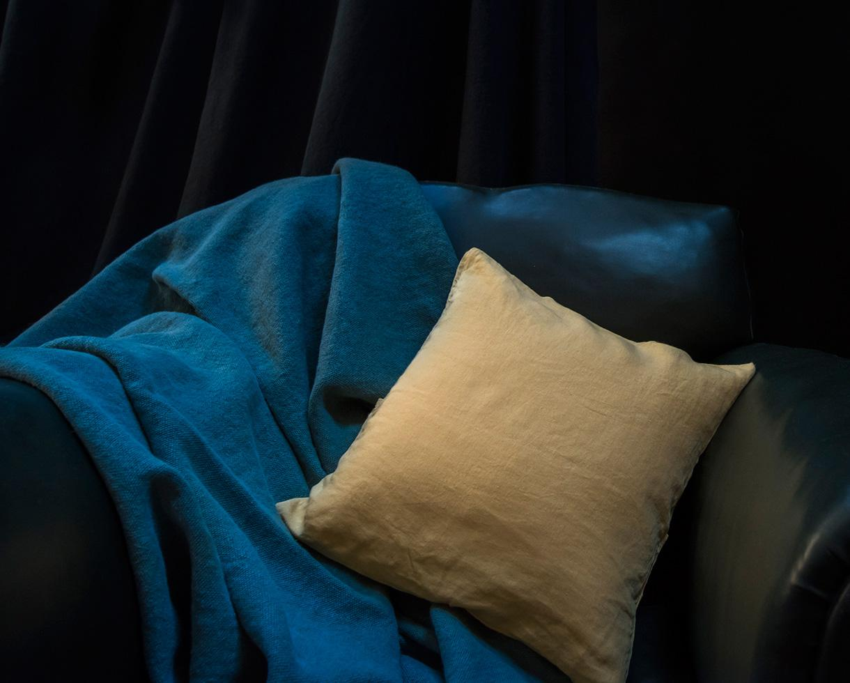 Plain hemp cushion cover Naples Yellow - Couleur Chanvre