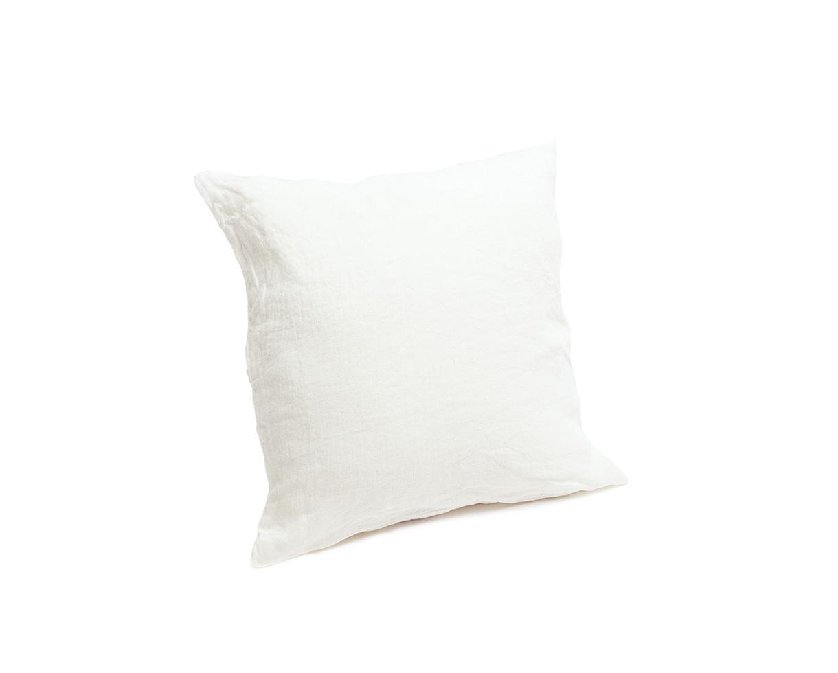 Housse de coussin en chanvre Blanc de chaux - Couleur Chanvre