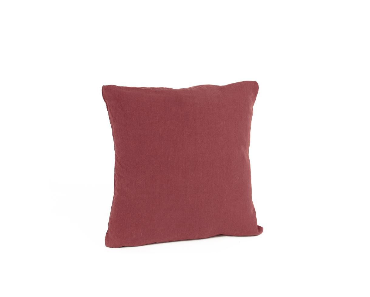 Housse de coussin en chanvre Ocre Rouge - Couleur Chanvre