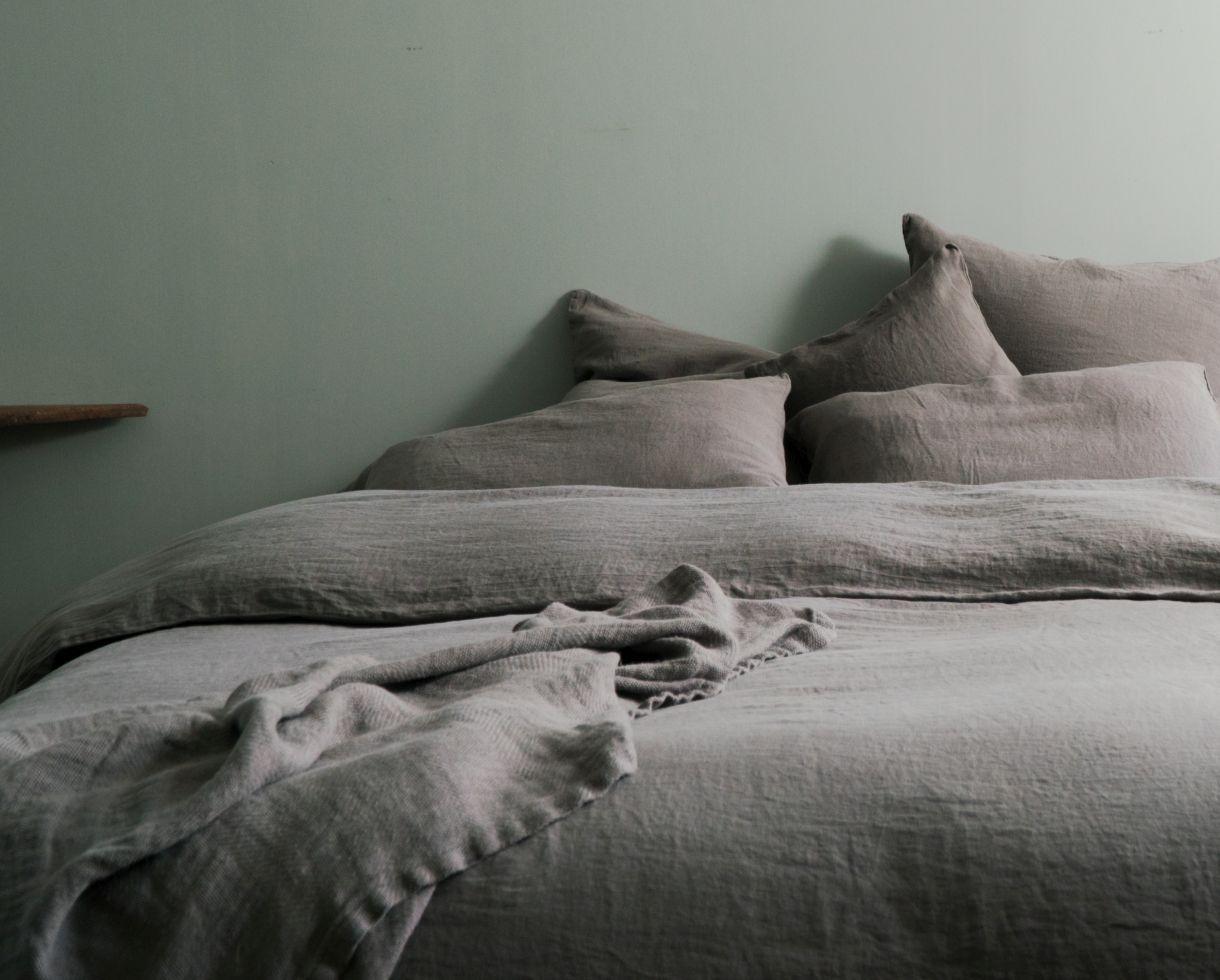 Colcha / Manta de cama en Jacquard Baia de Along - Couleur Chanvre