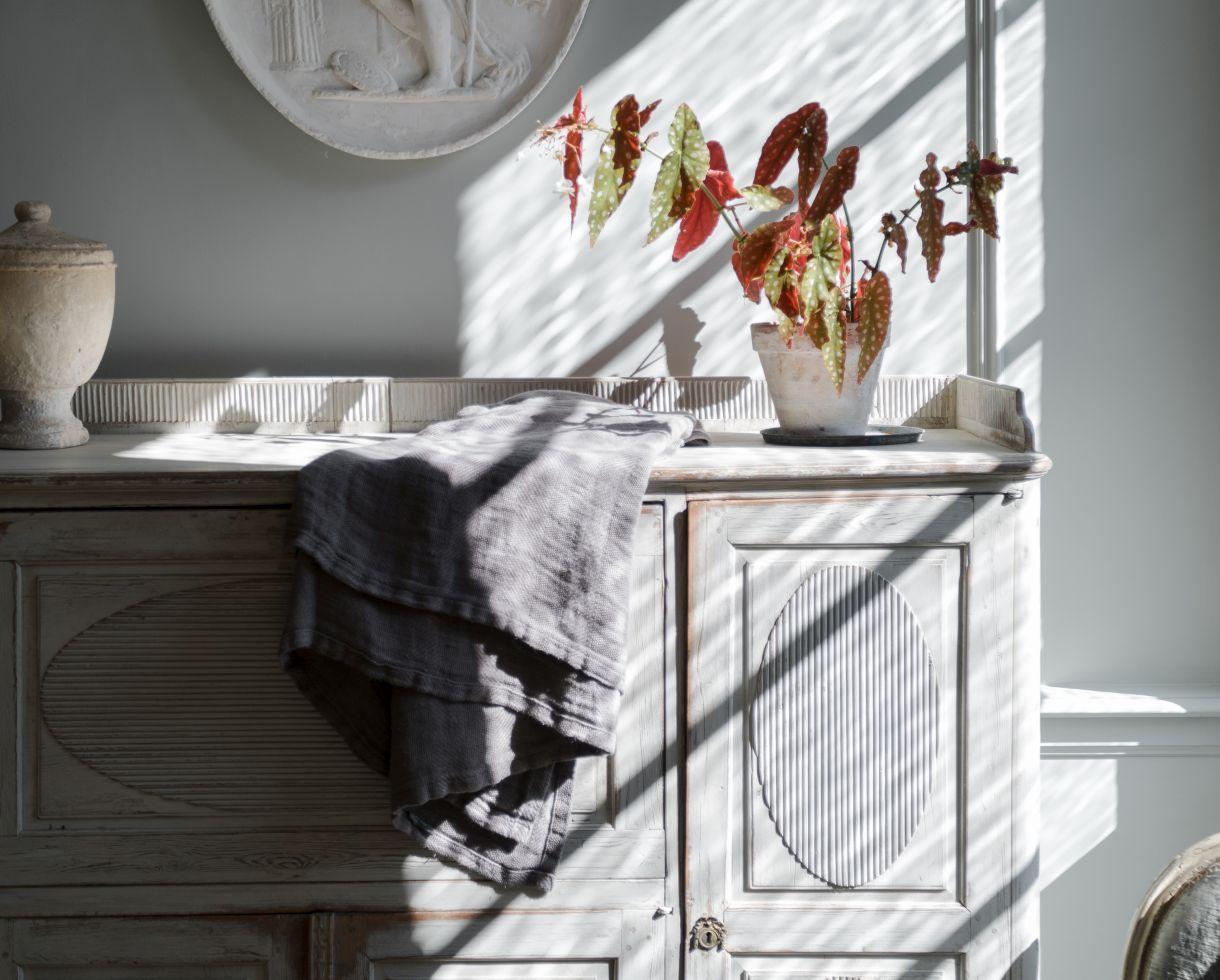 Jacquard Bedspread / Plaid Halong Bay - Couleur Chanvre
