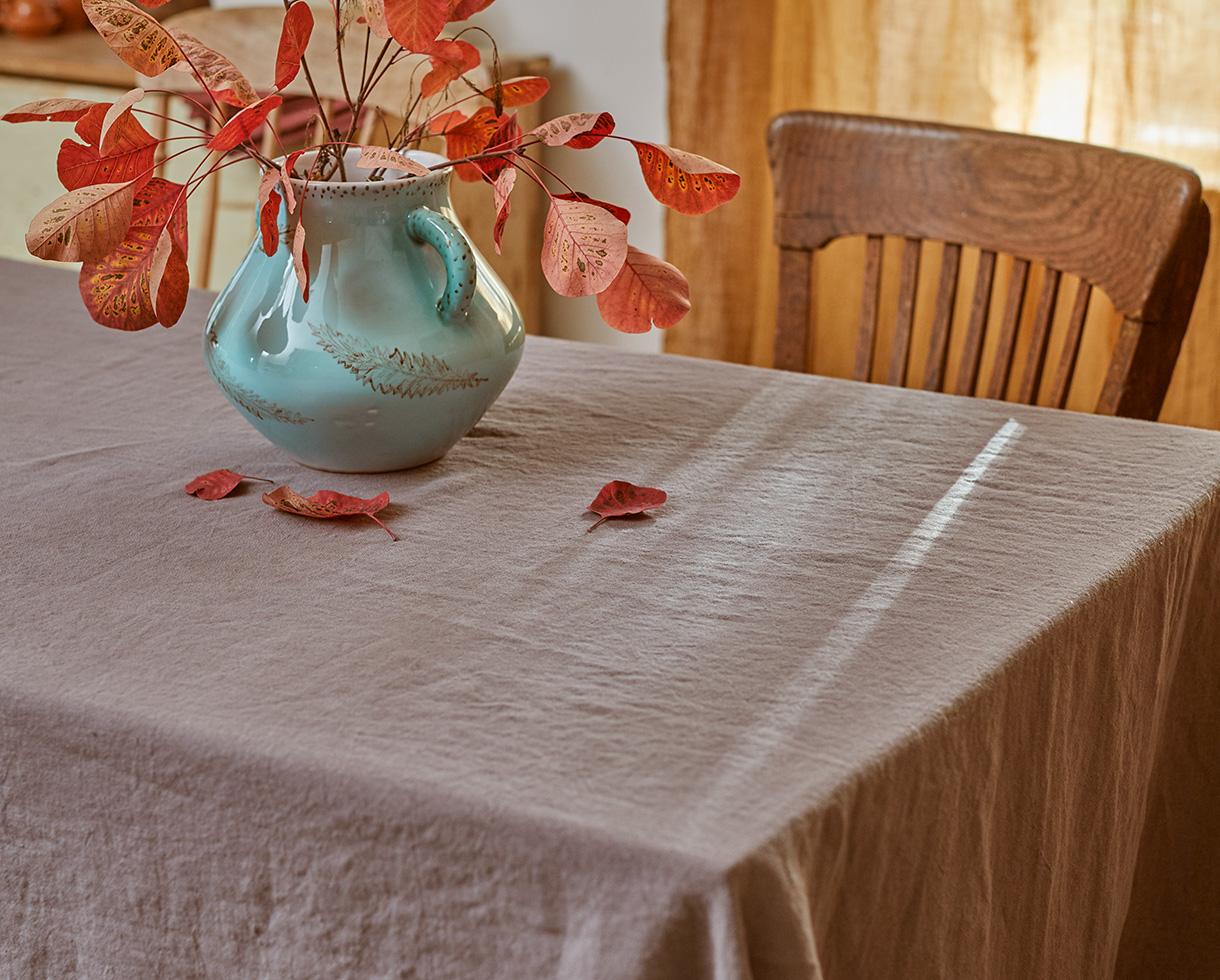 Linen tablecloth - Couleur Chanvre